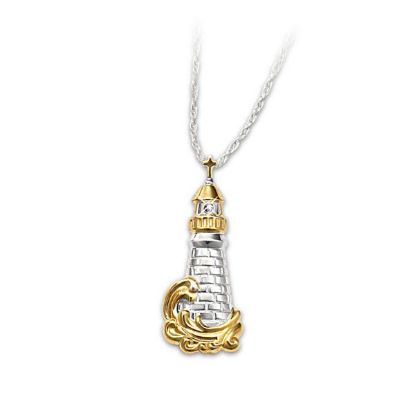 the quot light of quot lighthouse pendant with