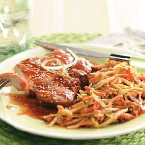 Plum-Good Pork Chops-fast and easy and sounds tasty..i like fast and easy lately ;-)
