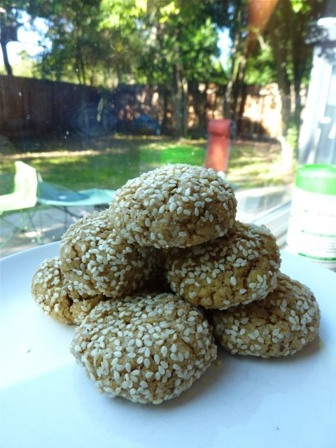 "Vanilla Bean Tahini Cookies from ""Whole Wheat or Bust"" blog"