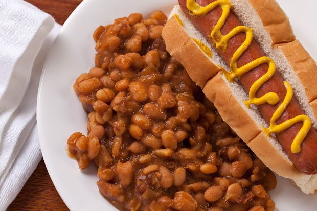 Easy Slow Cooker Baked Beans Recipe - no hot dogs or bacon! Soak and ...