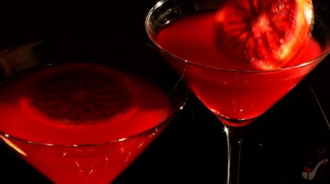 Bloody Orange Martini