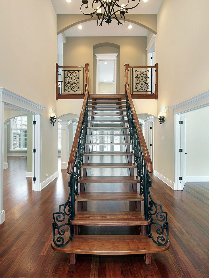 Pin by melissa diamond on dreamy homes 7 pinterest for House plans with stairs in foyer