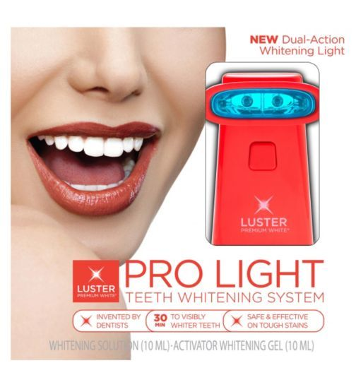 luster premium white luster pro light teeth whitening system boots. Black Bedroom Furniture Sets. Home Design Ideas