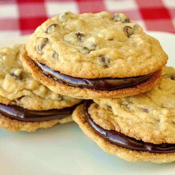 Coconut Chocolate Chip Sandwich Cookies | Cookies, Brownies, Blondies ...