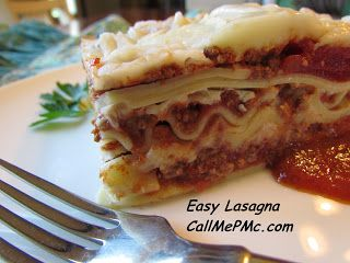 Easy Lasagna - Call Me PMc