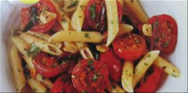 Cherry Tomato And Kalamata Olive Penne Recipe - I added some shrimp ...