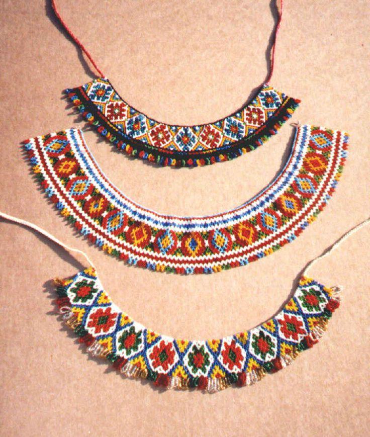 Ukrainian embroidery gerdany beadwork style
