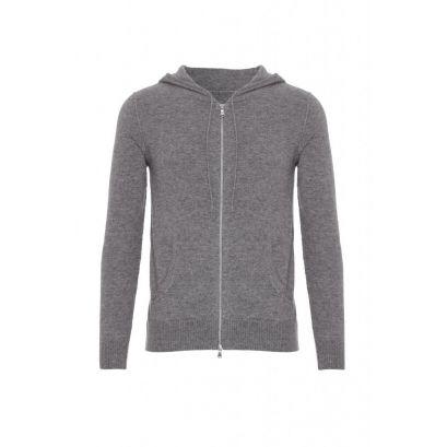 Cashmere Hoodie with Zip, Grey | Men's Fashion | Pinterest