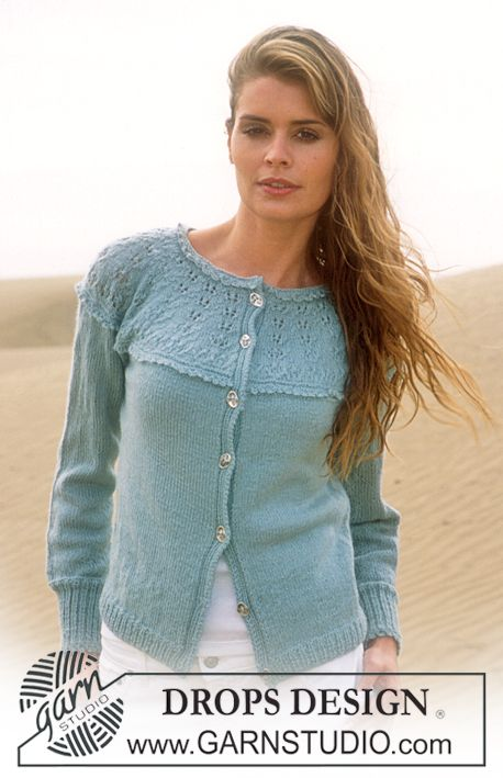 Drops Knitting Patterns : DROPS Cardigan in Alpaca ~ DROPS Design Knitting Patterns Pintere?