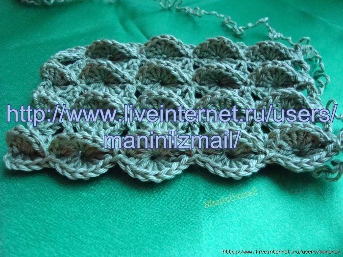 ... interesting stitch, visual tute Crochet/Tricot - Stitches Pi