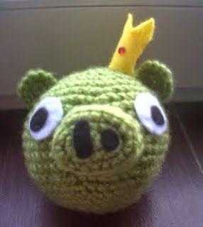 PATRON CERDO (ANGRY BIRD) AMIGURUMI | Crochet Toys | Pinterest