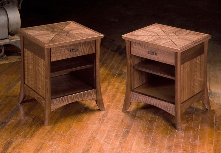 Walnut night stands woodworking plans pinterest for Night table designs