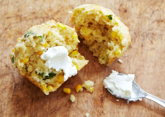 Fresh Corn and Basil Muffins | Eat it or gulp it down! | Pinterest