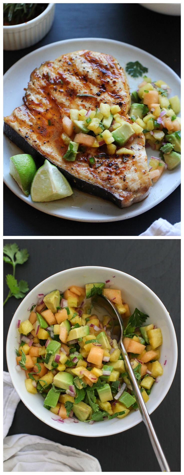 Grilled Swordfish with Lemon Mint and Basil Recipe