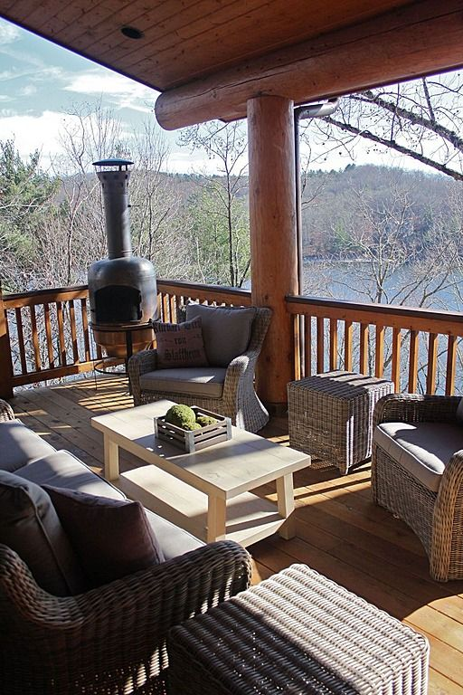 Pinterest patios just b cause for Rustic porches and decks