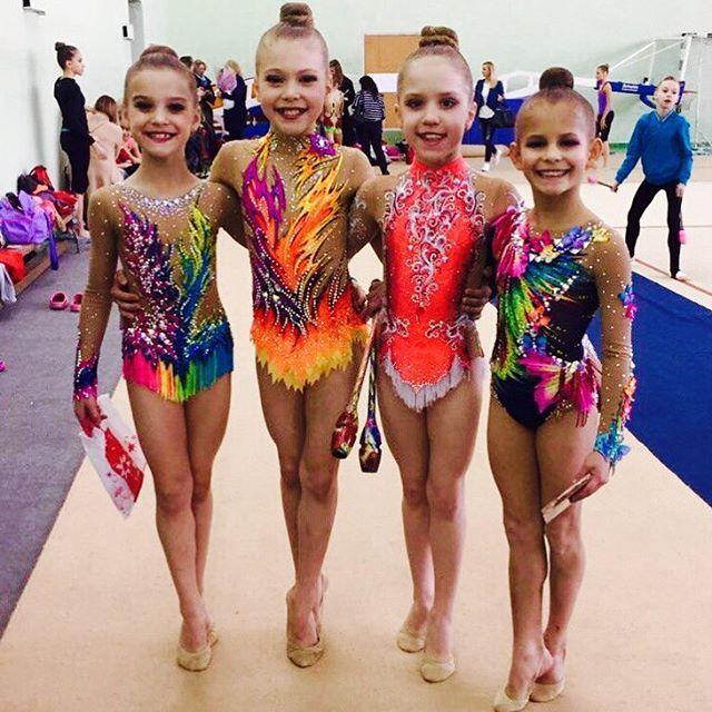 Rhythmic gymnastics leotards kids