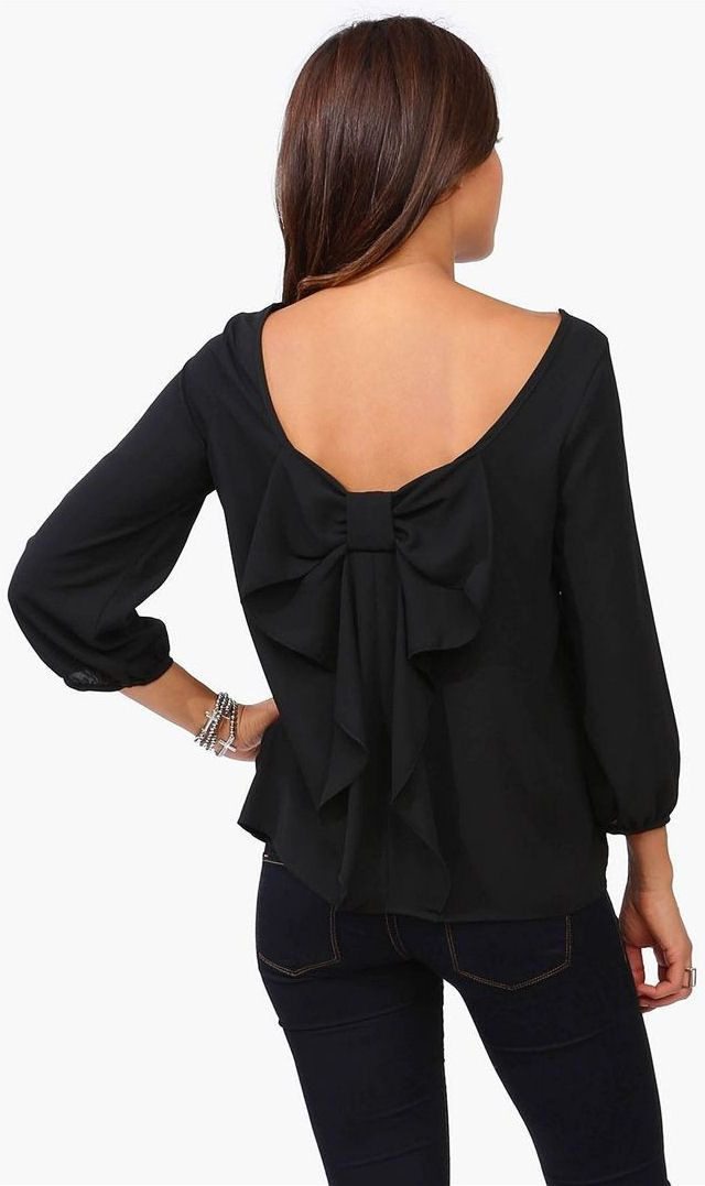 No wardrobe is complete without a solid chiffon blouse and our bow back version is lightweight and luxurious. Wear this perfectly cut style paired with a pencil skirt, slim pants or denim%(2).