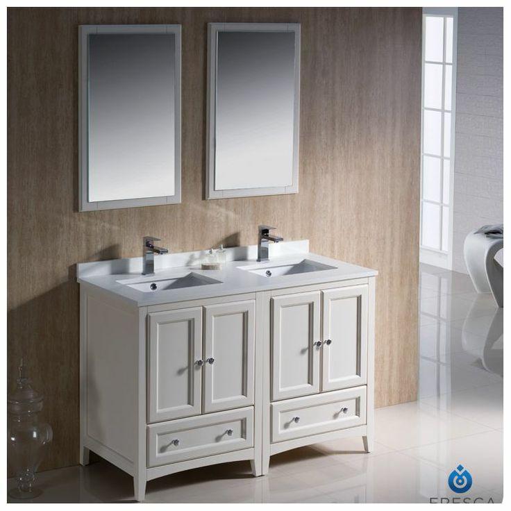 oxford 48 traditional double sink bathroom vanity set