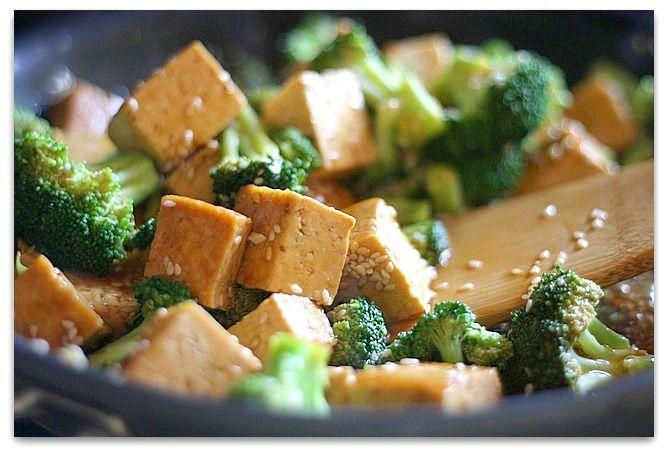 ... tasty broccoli tofu stir-fry is the answer! #tofu #diabetes #recipe