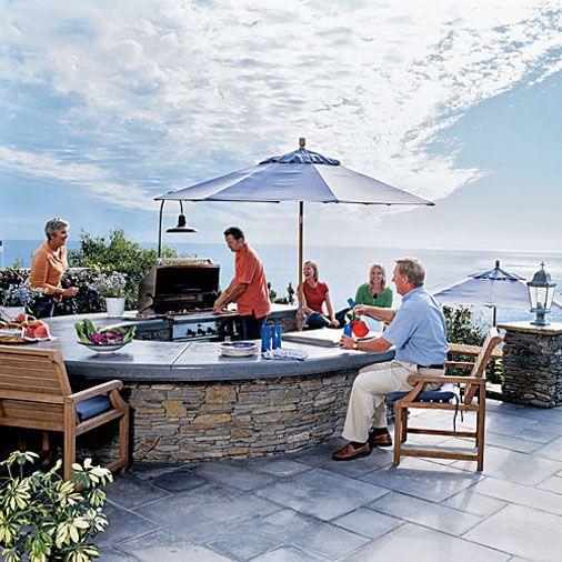 Outdoor u shaped kitchen outdoors pinterest for U shaped outdoor kitchen designs