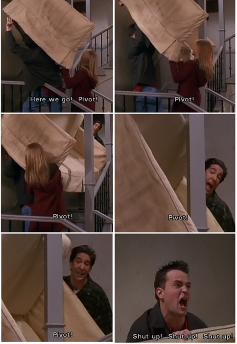 One of my favorite episodes.  PIVOT!
