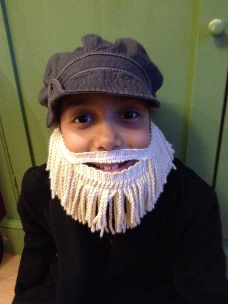 Mr Twit's beard - made with curtain bullion