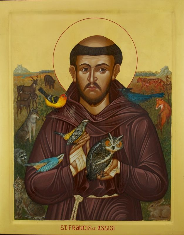 icon of st francis of assisi st francesco of assisi