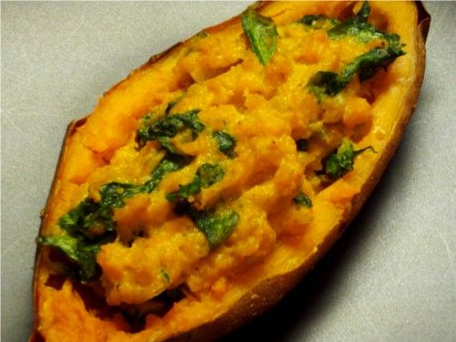 Coconut curry stuffed sweet potatoes | Clean eating: Low carb / Prima ...