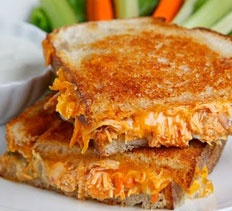 Buffalo Chicken Grilled Cheese Sandwich from Closet Cooking.