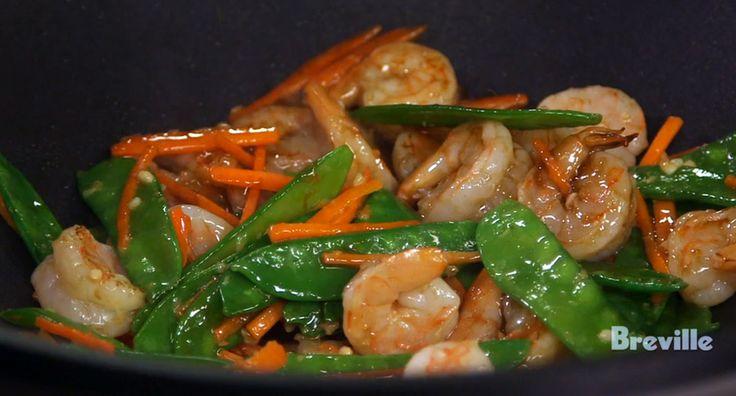 Stir-Fry Shrimp with Snow Peas and Oyster Sauce Recipe