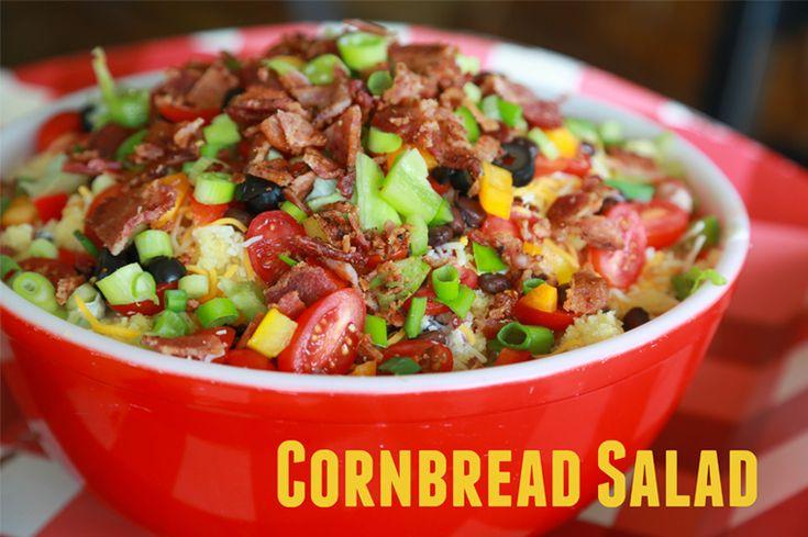 Cornbread Salad...made this last night, delish! Thanks Sherelle
