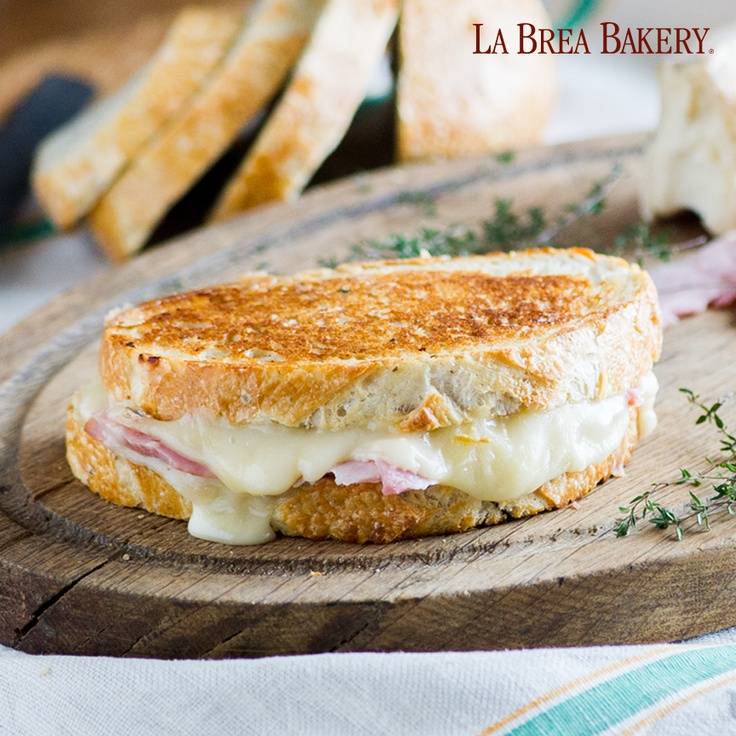 Ham & Cheese with Roasted Garlic | Grilled Cheese Reunion | Pinterest