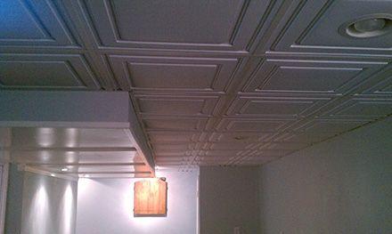 drop ceiling basement pinterest