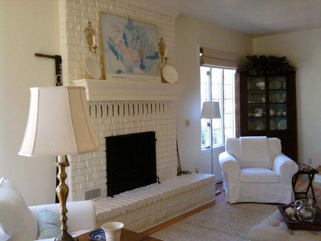 white painted brick fireplace a b i d e pinterest