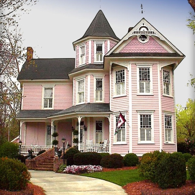 Pink Victorian Home Victorian Style Pinterest