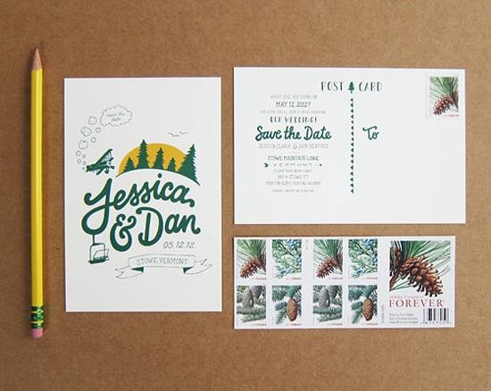 Dates Made From Vintage Postcards   Vintage Postcards, Save The Date ...