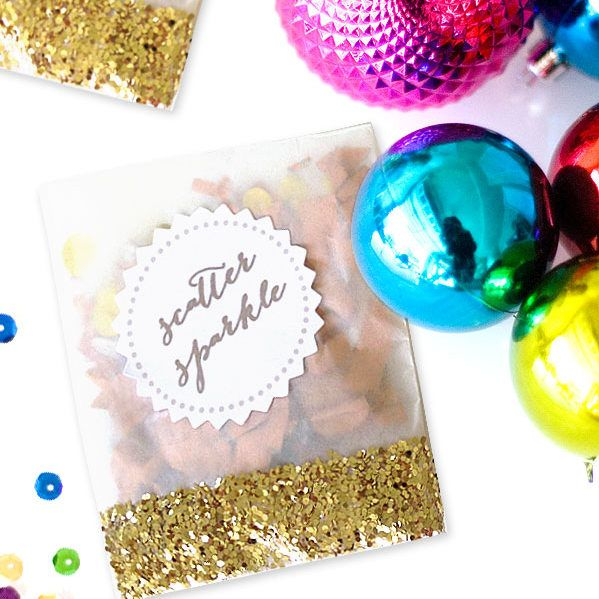 DIY Glitter Confetti Packets | Kojo Designs