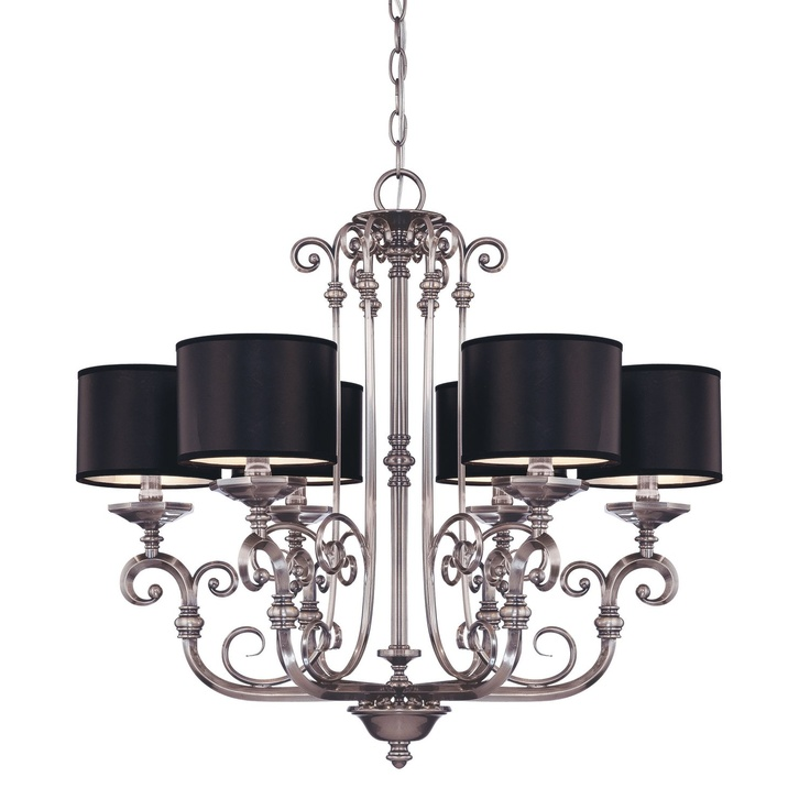 Silver And Black Chandelier. Love!