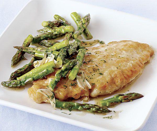 Chicken Paillards with Asparagus, Lemon, Garlic, and Dill, my recipe ...
