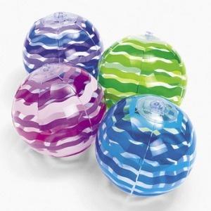 1 dz mini beach balls. this is cheaper than the dollar store.