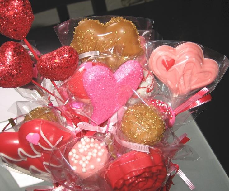 valentine cake pop bouquet