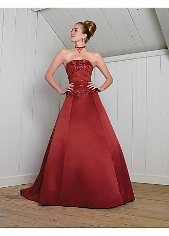 Beautiful elegant exquisite satin a line wedding dress in great