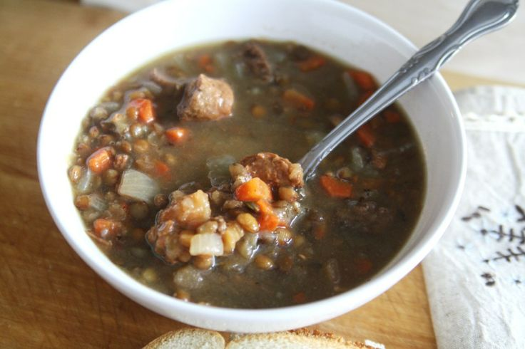 Smoked Sausage and Lentil Soup | Soup | Pinterest