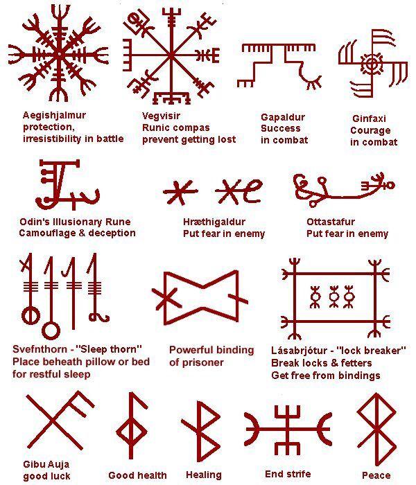 Norse symbols Viking rune | hoodoo/witchcraft | Pinterest