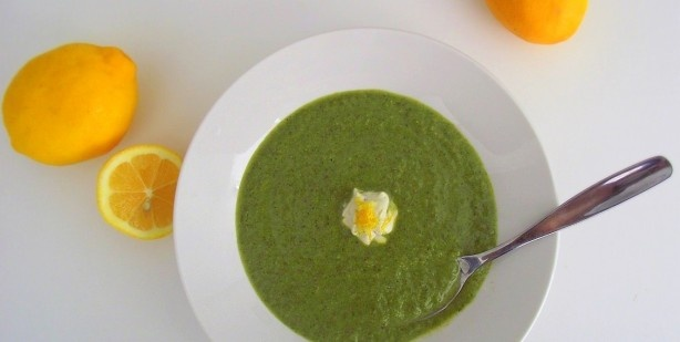 green soup with meyer lemon yogurt | Recipes I want to try | Pinterest