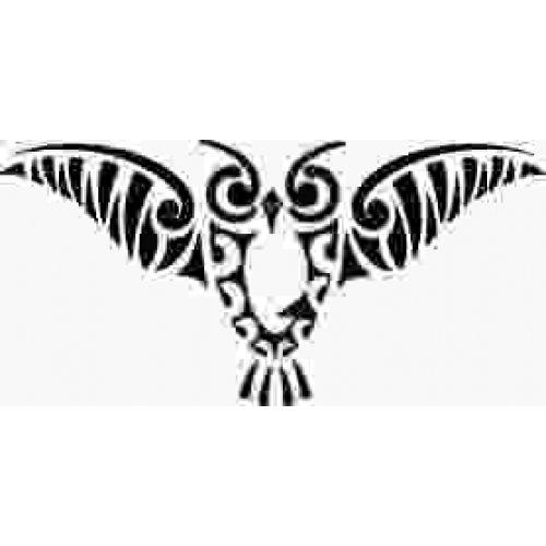 Flying owl stencil - photo#2