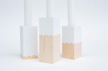 diy candlesticks from laura parke on designformankind.com