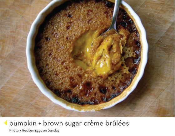 Pumpkin + brown sugar creme brulee and whole bunch of other pumpkin-y ...