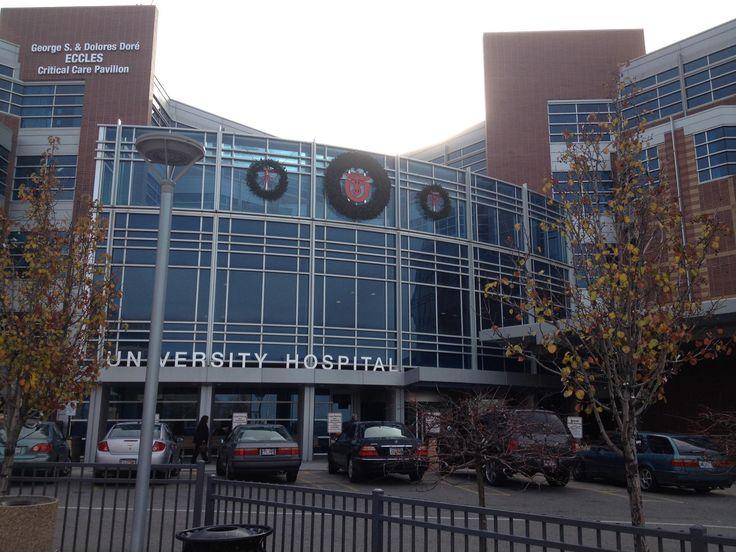 wreaths outside of hospital