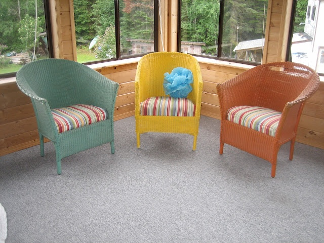 Colourful wicker furniture for the home pinterest - Wicker furniture paint colors ...